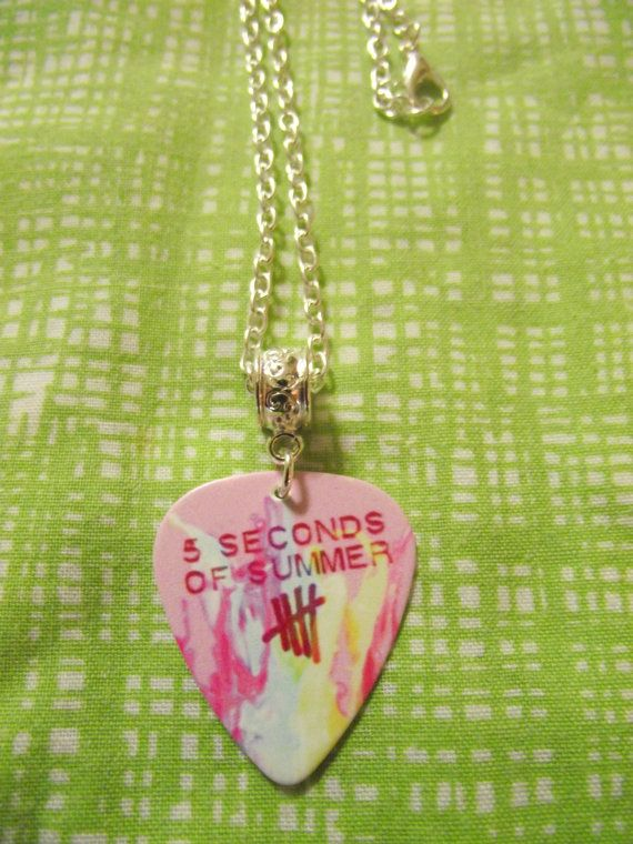 5 Seconds Of Summer 5SOS Guitar Pick Necklace on 16 by kazmarzjez, $4.50