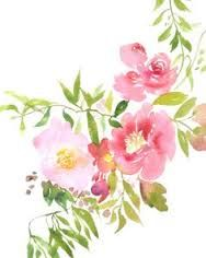 Image result for watercolour and ink flowers
