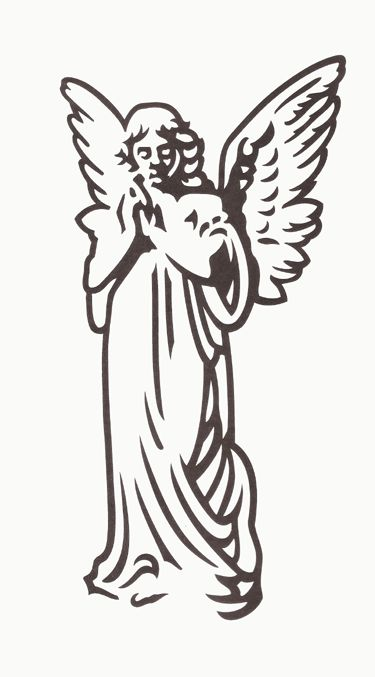 angel clipart for headstones - 375×677