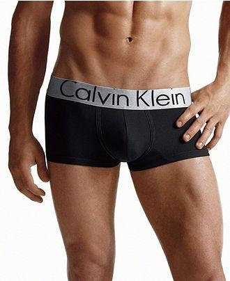 Calvin Klein Underwear, Steel Micro Low Rise Trunk U2716 - Mens Underwear - Macy's