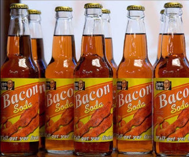 3.) Bacon Soda. Me thinks someone's gone too  far with the bacon flavor with this one...
