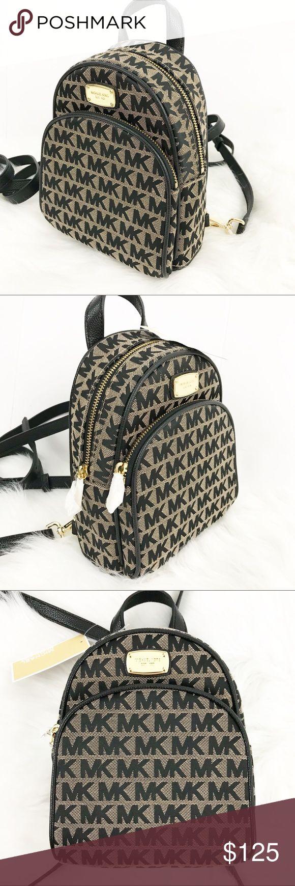 Michael Kors Abbey XSmall Backpack Color: Black & Brown Michael Kors Bags Backpacks