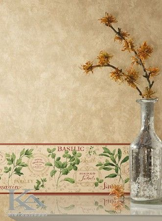 Glass Vase. Wallpaper and Spices.