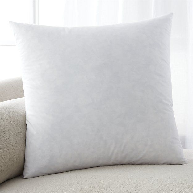 """Feather-Down 23"""" Pillow Insert Need 23"""" insert for a 21"""" pillow case, 20"""" insert for 18"""" pillow case, and a 22""""X18"""" insert for a 20""""X16"""" pillow case."""