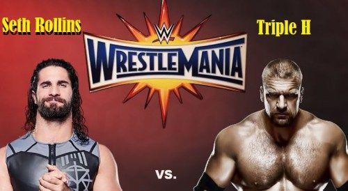 Seth Rollins VS Triple H Match Result Winner Wrestlemania 33 Video-2 April 2017-WWE Raw
