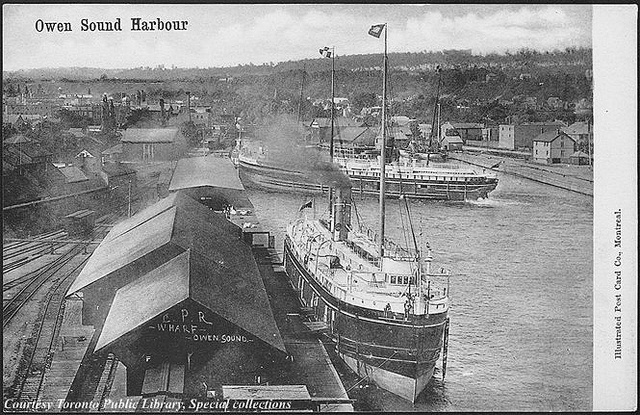 Harbour at Owen Sound, Ontario, Canada (ca. 1910) Owen Sound Harbour Creator:Illustrated Post Card Co. Date: 1910