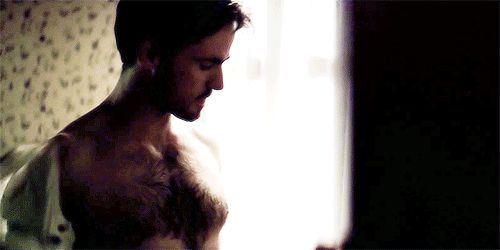 A shirtless Colin O'Donoghue