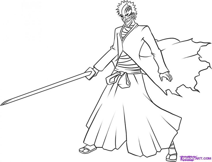 Bleach Coloring Pages Anime