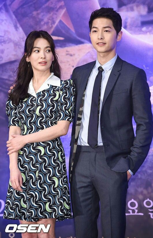 Song Hye Kyo And Joong Ki Descendants Of The Sun