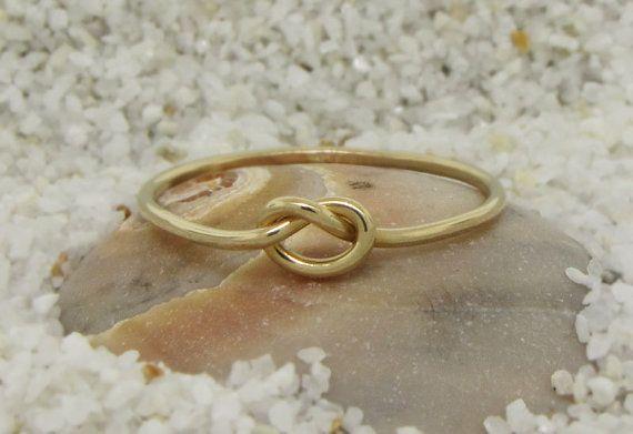 Zuiverheid ring 14kt gouden liefde knoop ring door TDNCreations