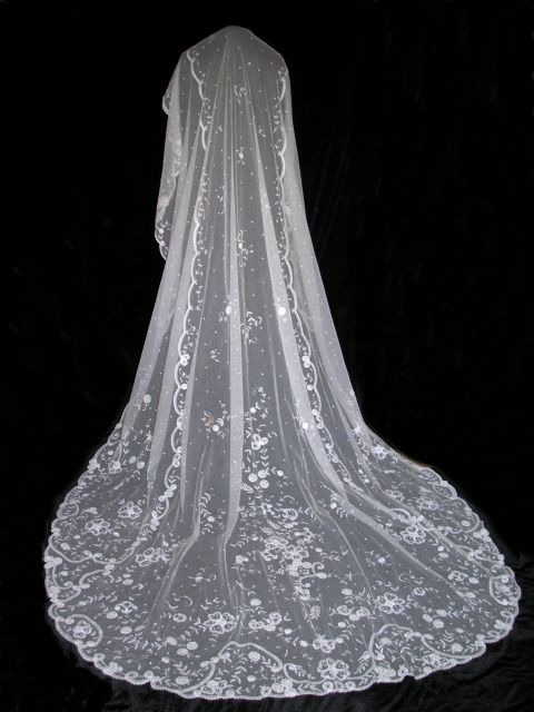 Consider this... Like the idea and look of a train but don't want a cumbersome train or bustle on your butt for the reception photos? How about a floor or a sweep length gown and then wear a longer veil like a chapel, cathedral or even a royal. The veil comes off once photos are taken after the ceremony anyway. Depending on the style it can be thrown around your shoulders too.