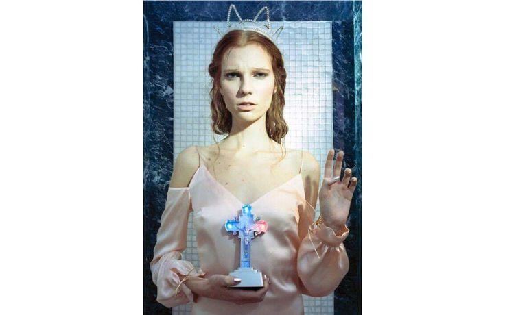 The Carrie silk slipdress / Nora Sarman / photo Eva Szombat / concept and hair Judit Iglody / make up Barbara Keseru / model Viktoria Icon