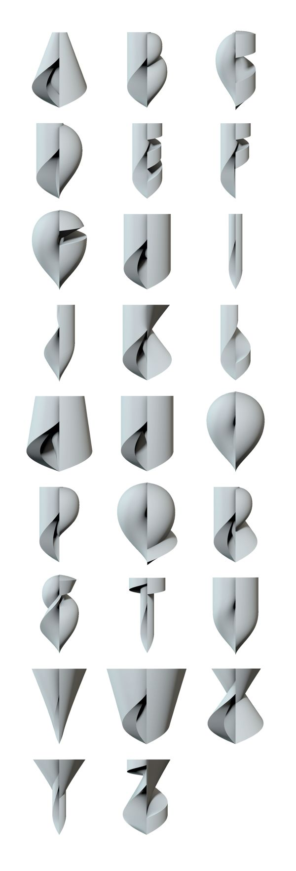 Alphabet   Lathe Uppercase                  by Alexander Klement