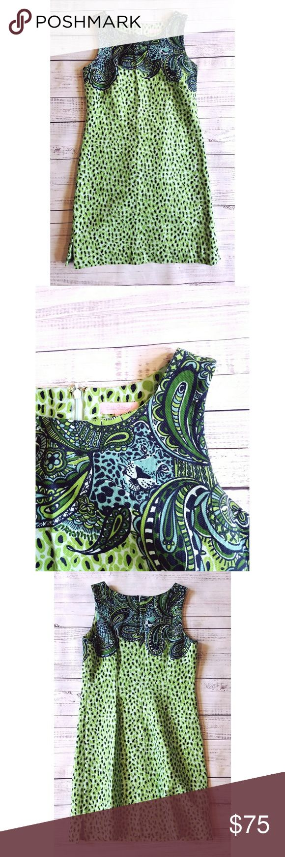 Lilly Pulitzer Shift dress Lightly worn Linned Zipper in back  17.5 inches from armpit to armpit 16.5 inch flat waist  35.5 inches long Cotton and xla lastol Lilly Pulitzer Dresses