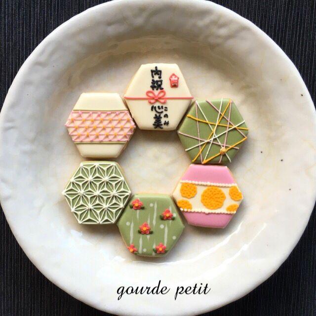 japanese : *内祝* 和柄 アイシングクッキー セット