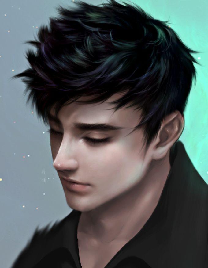 Digital Painting Inspiration Digital Art Anime Realistic Art Black Hair Boy