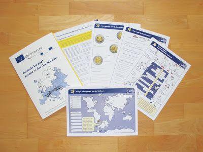 Kostenlose Unterrichtsmappe zum Thema Europa in der Grundschule mit zahlreichen Arbeitsblättern und einem Begleitheft für Lehrer.