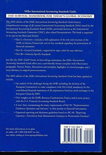 2003 Miller International Accounting Standards Guide (International Accounting / Financial Reporting