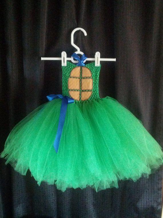 Ana Halloween :Teenage Mutant Ninja Turtle tutu dress by Fancythatcreation  @Meagan Getsinger - I immediately thought of Grace when I saw this lol