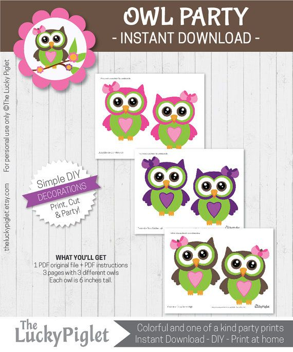 Owl Party decorations. Check out this item in my Etsy shop https://www.etsy.com/no-en/listing/482928653/owl-decorations-owl-party-decorations