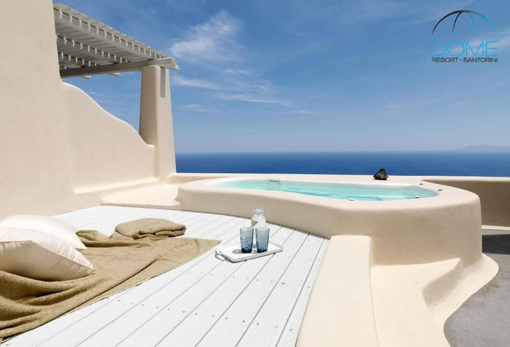 Infinite blue shades…the Aegean and the cloudless Greek sky! Join us! #domeresort #santorini