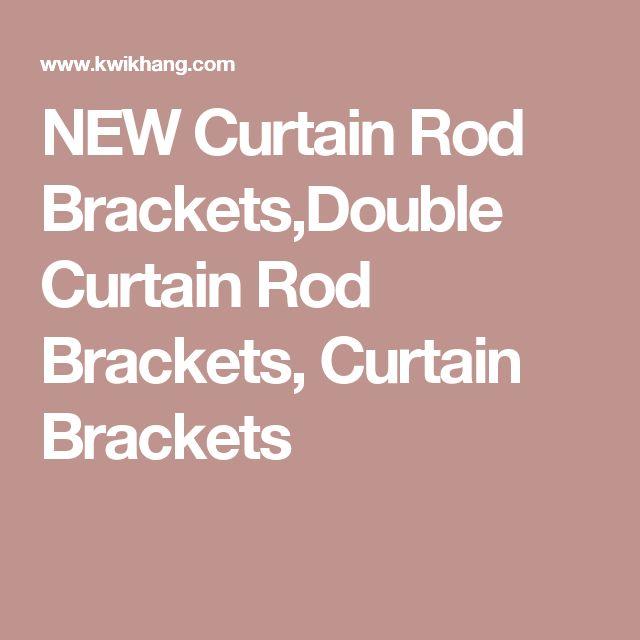 1000+ ideer om Double Curtain Rod Brackets på Pinterest | Gardiner