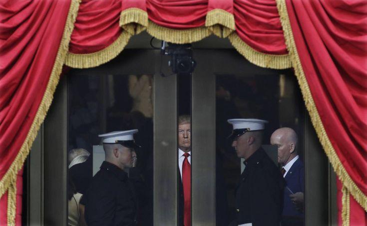 El presidente electo, Donald Trump, momentos antes del juramento de su cargo, el 20 de enero.