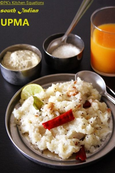 South Indian upma is a very simple, quick and easy breakfast recipe using semolina or suji with an Indian seasoning.