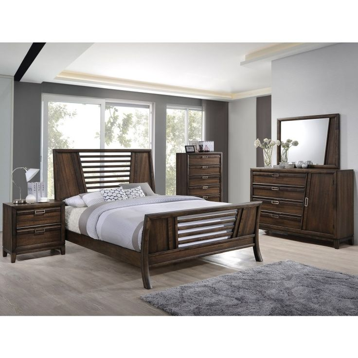 The Transitional Styling Of Bedroom Set Suits Any Room Made With A Hard Wood Frame Burma Walnut Veneers This Is Built To Last And