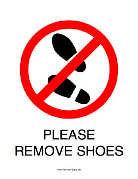17 Best Ideas About Remove Shoes Sign On Pinterest