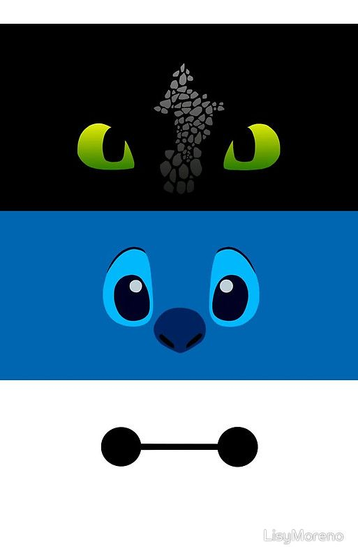 toothless, stitch and baymax | iPhone 6s - Snap