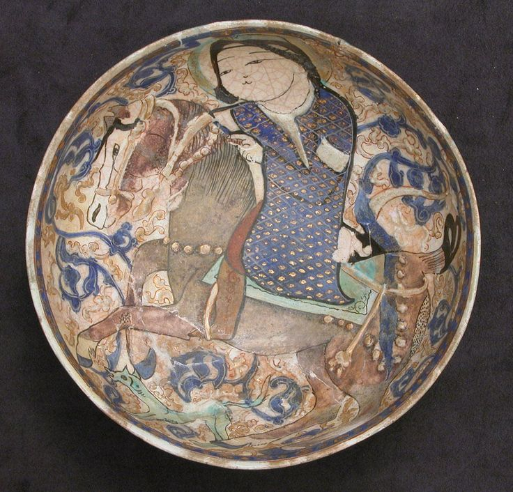 Horseman on Seljuk Bowl from Rayy, 12th to 13th centuries