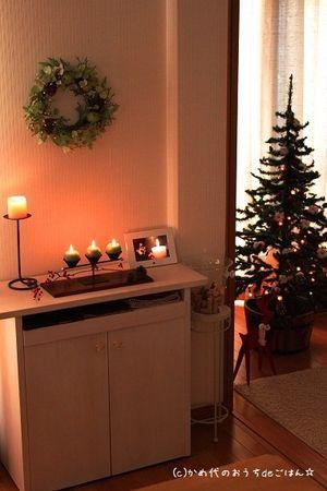 クリスマスの玄関☆インテリアの参考画像集 - NAVER まとめ