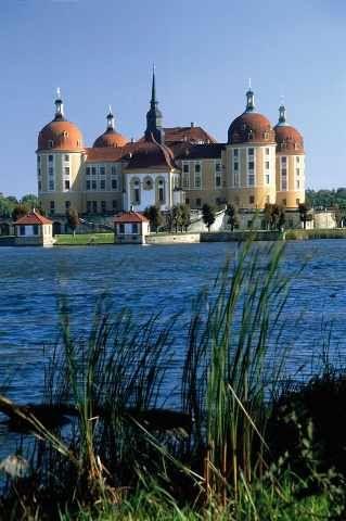 Jagdschloss Moritzburg, bei Dresden, Sachsen