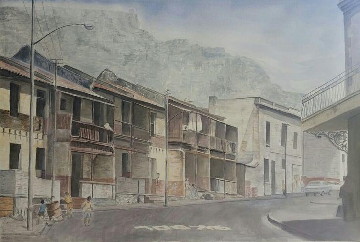 De Villiers Street District 6 Watercolour