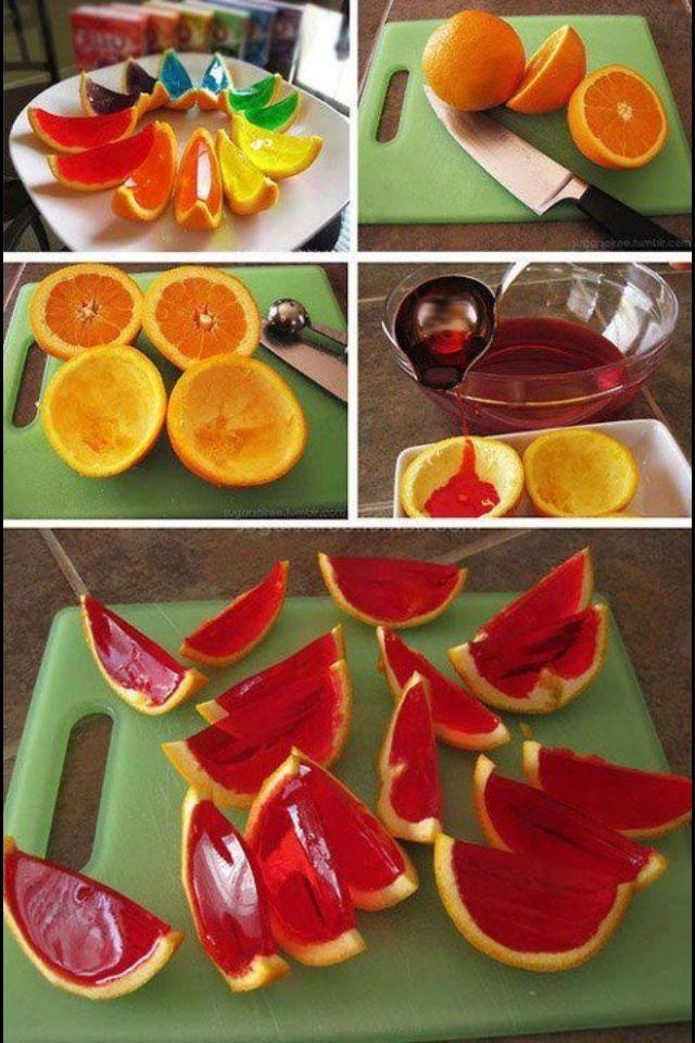 Jello orange slices... the kids would love these; like Jello beans using the orange peel as the mold.  Johnston  http://johnstonmurphymensclothing.gr8.com  More Mens Fashion   Johnston & Murphy  http://johnstonmurphy.gr8.com
