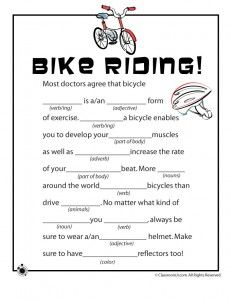 Spring Mad Libs - Bicycle Riding!