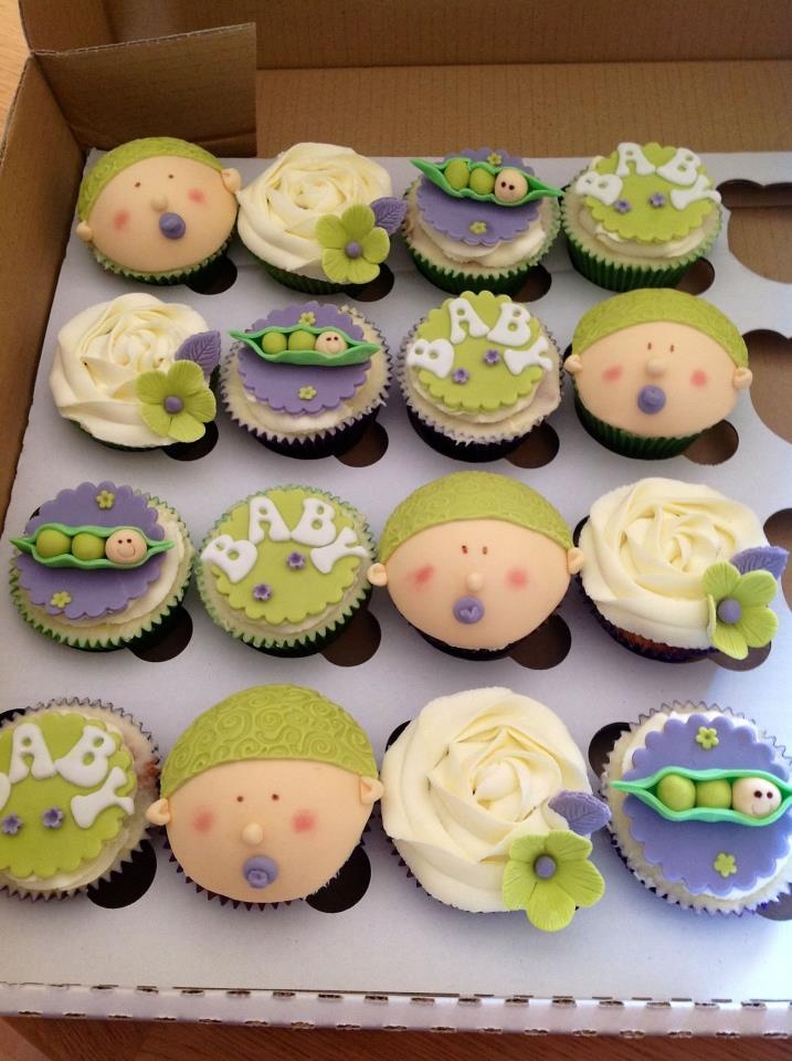 Unisex Baby Shower Cupcakes : 17 Best images about girly under the sea baby shower on ...