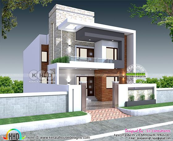 32x60 Modern North Indian Home Plan In 2020 Kerala House Design Small House Design Exterior Duplex House Design
