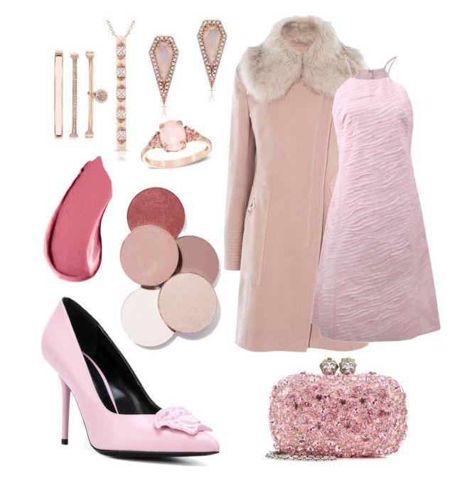 Pink Valentine by jessann-harrold on Polyvore featuring polyvore moda style Michael Kors Karen Millen Versace Alexander McQueen Anne Klein Anne Sisteron LunatiCK Cosmetic Labs Burberry fashion clothing