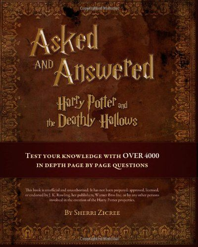 Harry Potter Book Questions And Answers : Images about for harry potter fans on pinterest
