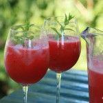 Watermeloen limonade; Huisgemaakt en verkoelend.