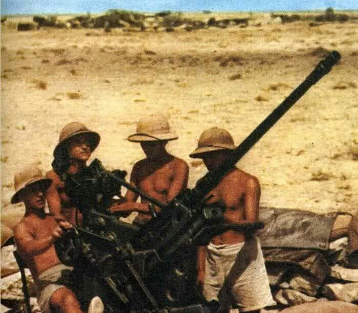 D.A.K. anti aircraft gun, North Africa WWII, pin by Paolo Marzioli