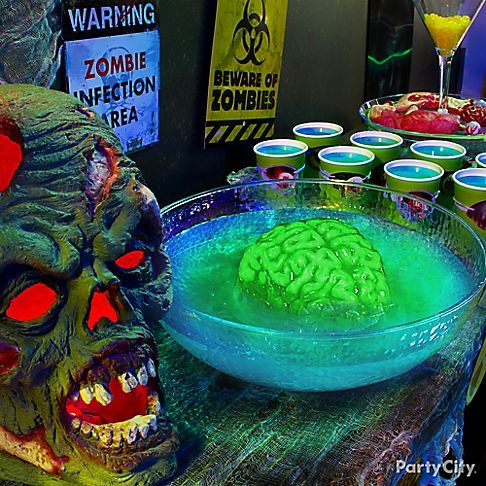 apocalyptic brain punch is the infectious drink of the night mountain dew a splash zombie halloween partyhalloween - Halloween Party Punch Alcohol