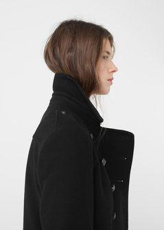 Cappotto stile militare lana