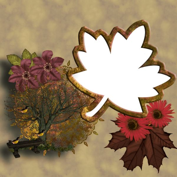Fall PNG Photo Frame