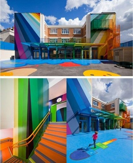 A Paris' kindergarten design...now that would make me happy to go to school everyday!