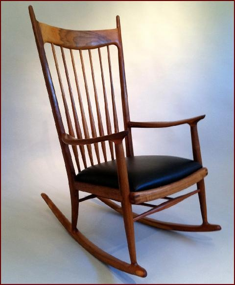 Untitled Rocker, 1964 by Artist Sam Maloof