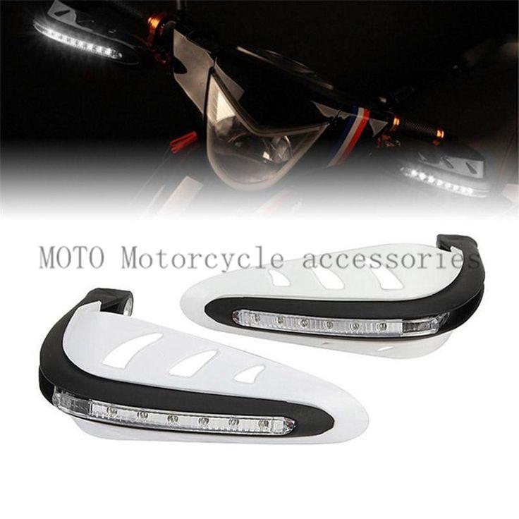 Motorcycle Handlebar Hand Protector LED Light Motorbike Hand Guards 7/8'' for Honda Suzuki Yamaha Cruiser ATV High Qaulity