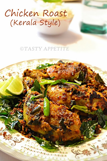 Chicken leg piece 3 Turmeric pwd - ¼ tsp Red chilly pwd 1 tsp Coriander pwd 1 tsp Lemon juice few drops Ginger garlic paste 1 tbsp Oil 2 tbsp Cumin ½ tsp Sliced onions ½ cup Curry leaves Vinegar 2 tsp Crushed pepper corns ½ tsp Garam masala pwd 1 tsp Green chilly Salt